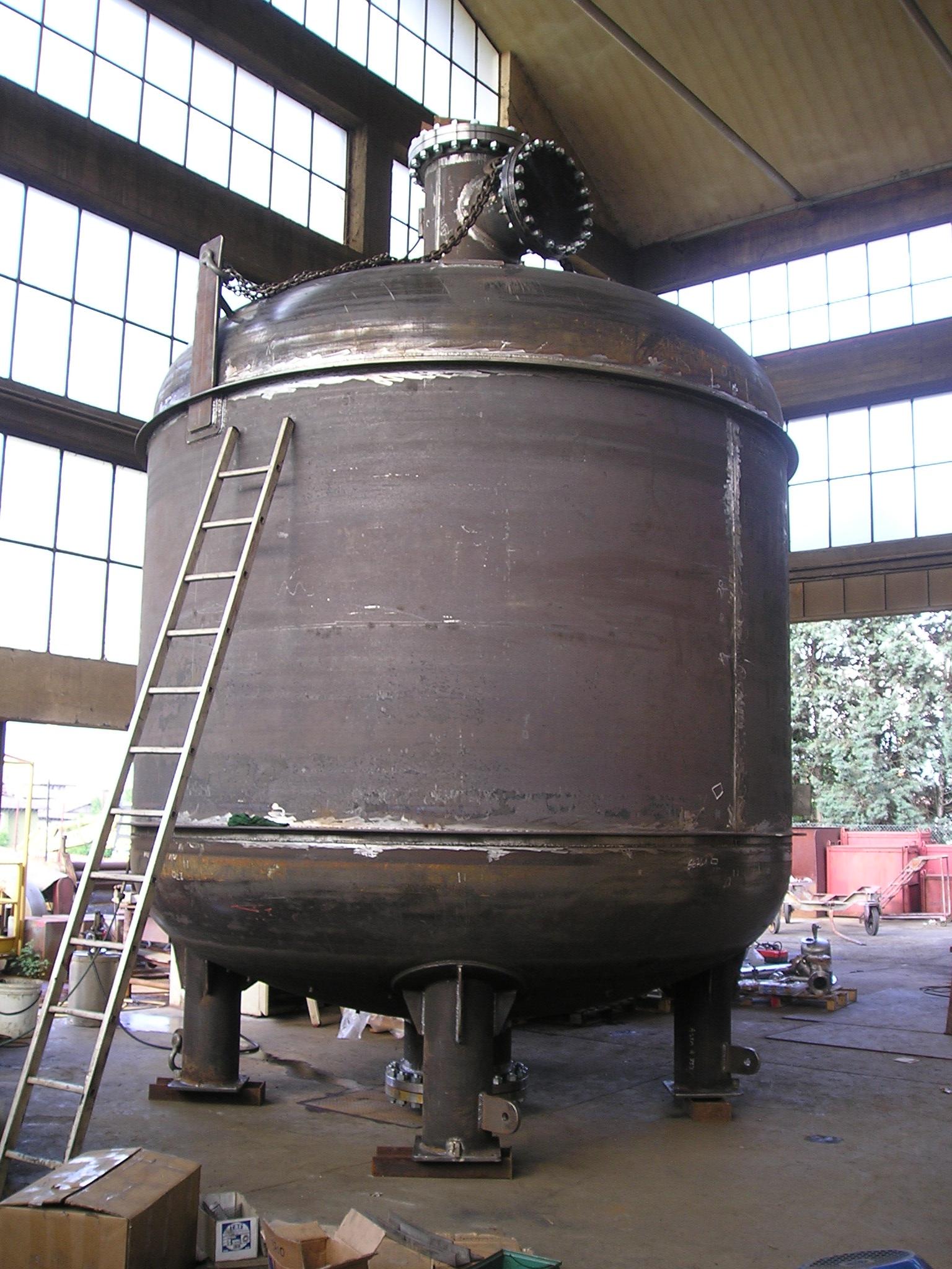 Barile prepurificatore DN 3700 in acciaio al carbonio